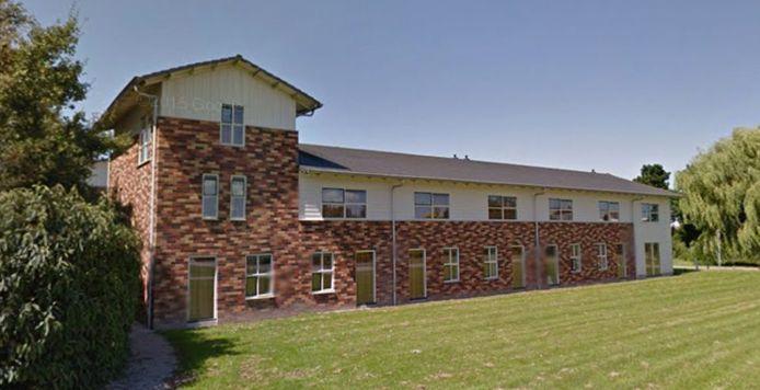Een gebouw met studentenwoningen op de campus van de Aeres Hogeschool in Dronten