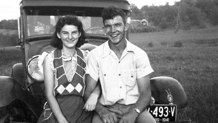 Kenneth en Helen Felumlee in september 1941, drie jaar voor ze zouden trouwen Beeld ap