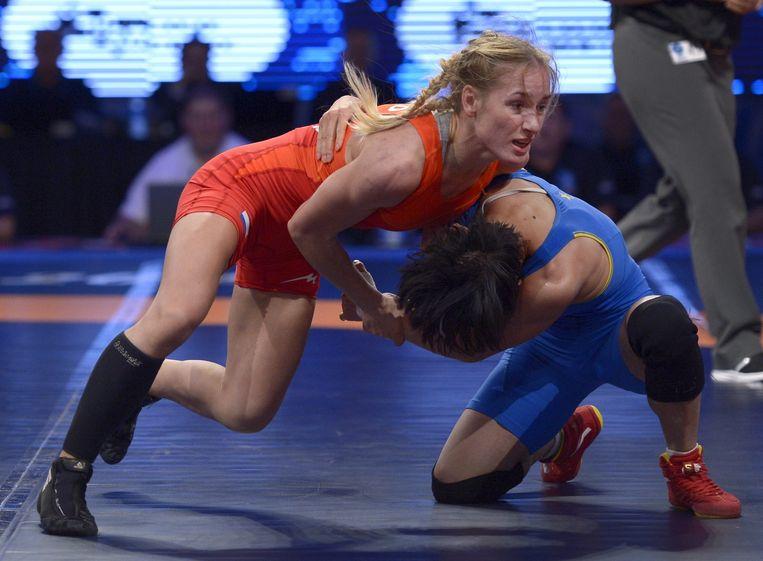 Jessica Blaszka was in Rio de eerste Nederlandse worstelaarster op de Spelen Beeld anp