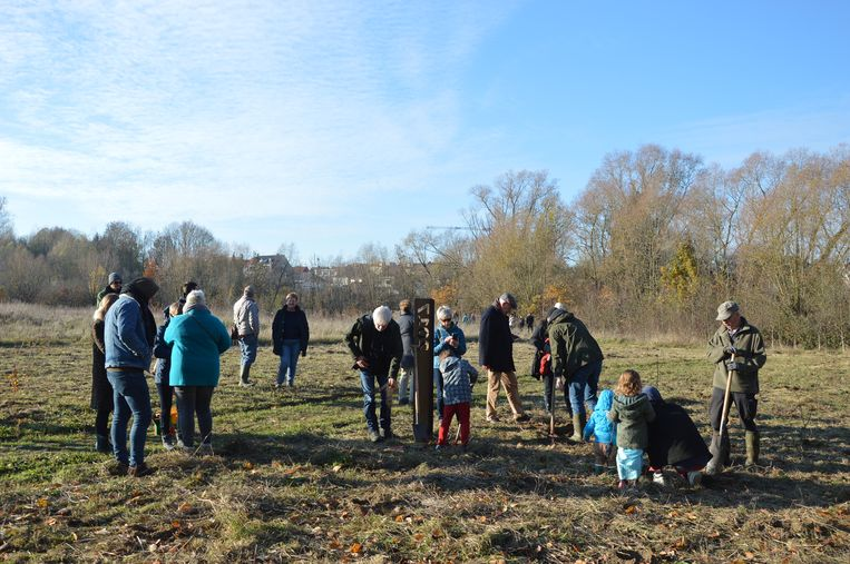 De aanplant van het geboortebos gebeurt in samenwerking met Natuurpunt Ninove.