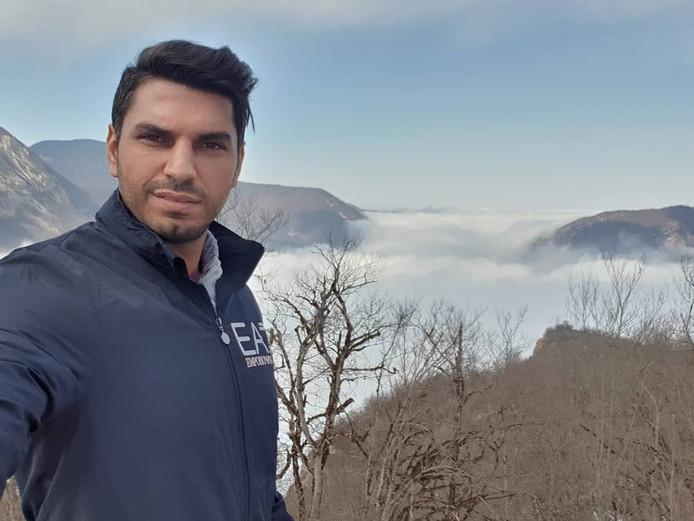 Shahin Gheiybe in beeld van zijn Instagram.