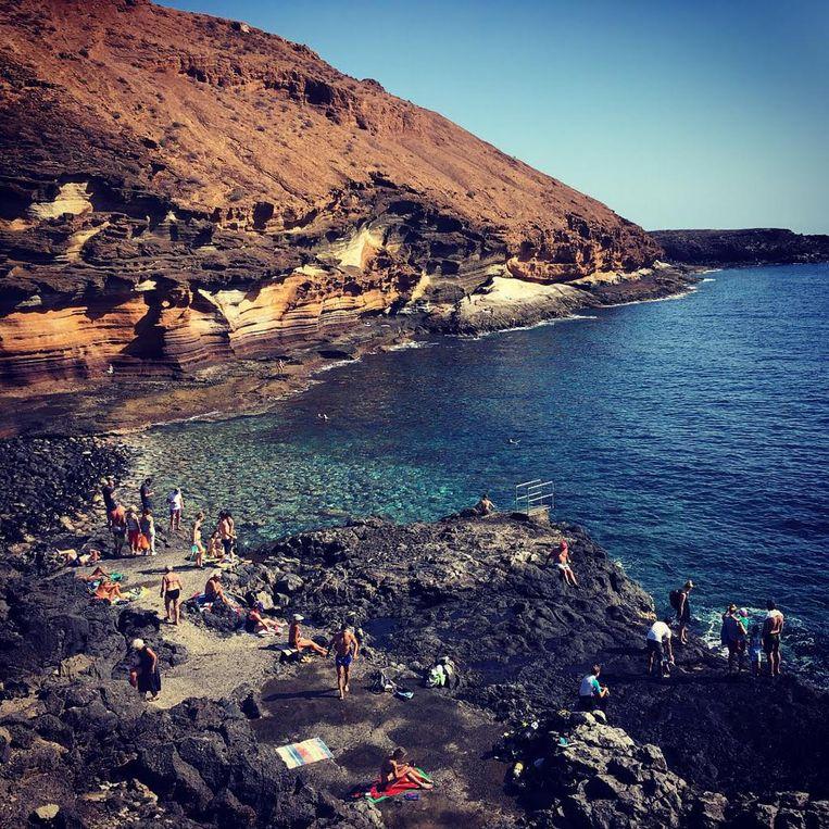 Chiringuito Costa Silencio op Tenerife.
