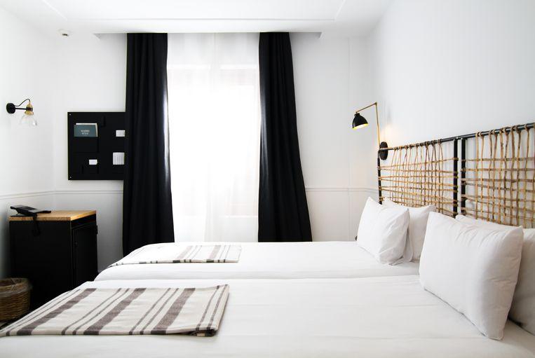 De kamers van het 7 Islas Hotel in Madrid zijn ingericht in witte tinten. Beeld