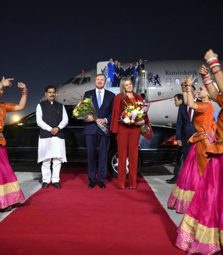 Warm onthaal voor koningspaar in snikheet India