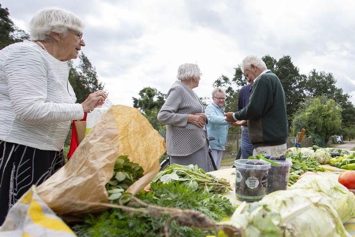 Vanwege corona zijn er deze zomer geen markten of open dagen bij tuinvereniging De Jipkesbelt, maar bezoekers kunnen er wel dagelijks terecht voor verse groenten en fruit.