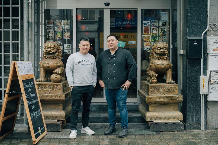 Keith Choi en San Fu Su: ''Vandaag moet je vernieuwend zijn om te overleven. Het volstaat niet meer om gewoon lekker eten te serveren.'  Beeld Illias Teirlinck