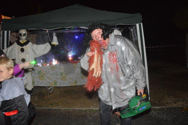 Eddy Van der Stappen in zijn rol als moordenaar/kannibaal.