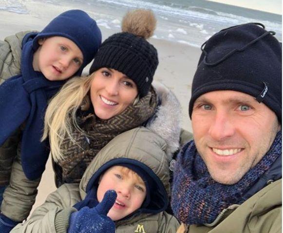 Buffel met zijn gezin.