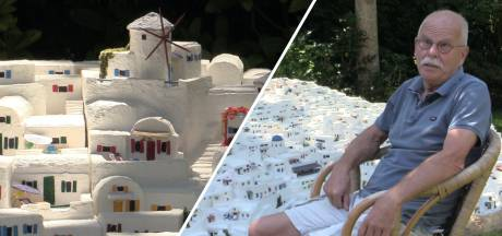 Fer (67) uit Brabant bouwt Grieks eiland Santorini na in zijn achtertuin