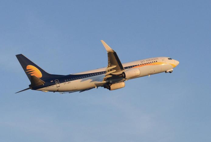 Een toestel van Jet Airways.