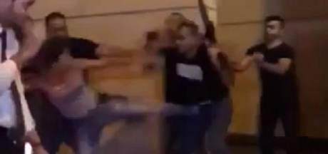 Elle donne un coup de pied à un garde ministériel armé et devient un symbole au Liban