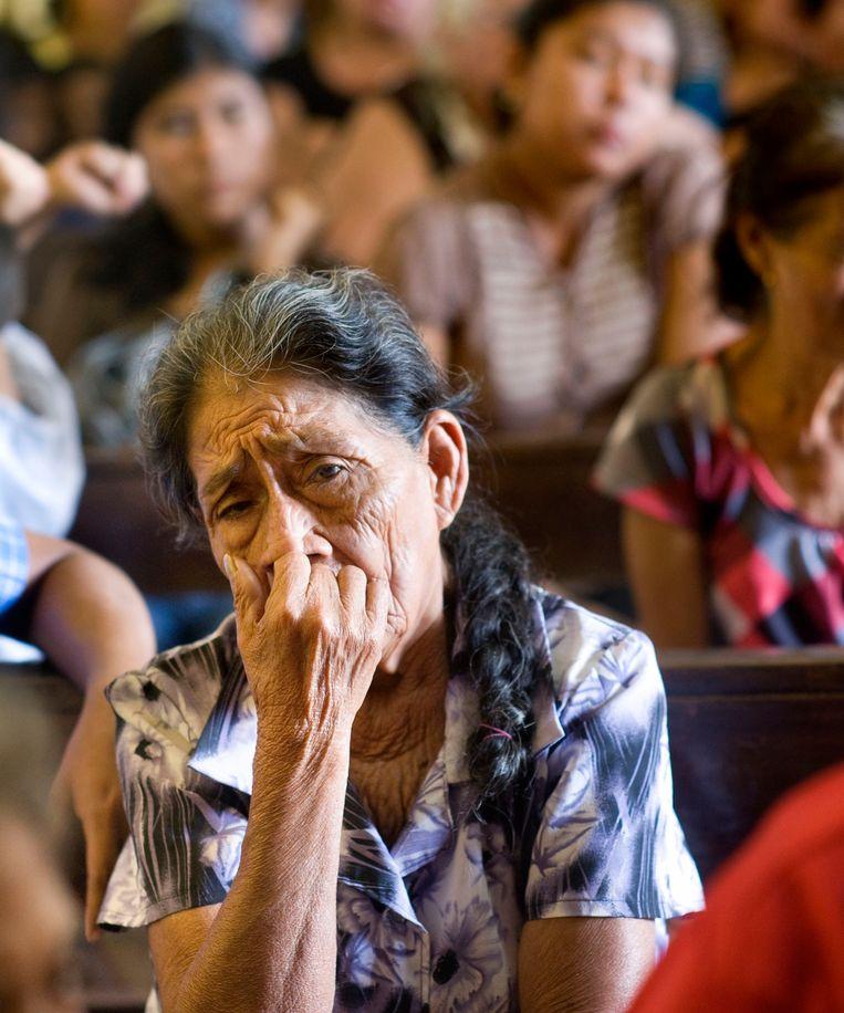 Een bijeenkomst van nabestaanden in Santa Lucía. Beeld Piet den Blanken