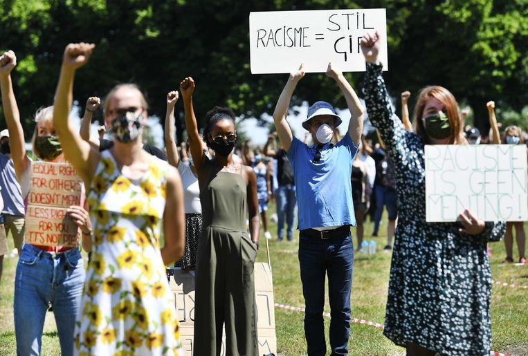 Demonstranten in Den Bosch. Beeld ANP