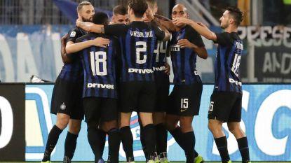 Inter hijst zich na tweeklapper Icardi en zege tegen Lazio naast Napoli op de tweede plek