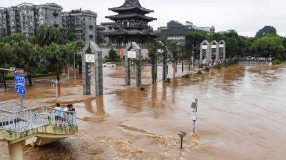 Minstens 19 doden bij overstromingen in zuiden van China