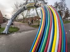 Peperduur kunstwerk De Boog in Zwolle buigt opnieuw: weer naar de filistijnen...