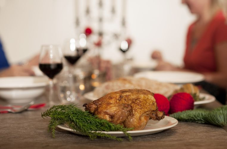 Vaak eten we (te)veel tijdens de feestdagen. Beeld ANP Xtra