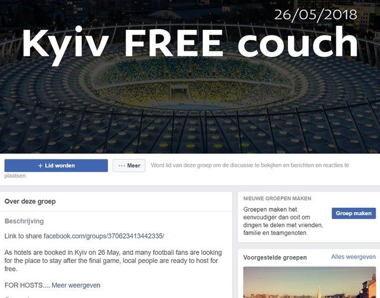 Ondertussen werd er een Facebook-groep opgericht om de fans gratis onderdak aan te bieden.