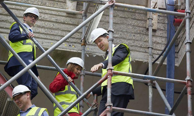 Premier Rutte bezoekt het bouwproject Beeld anp
