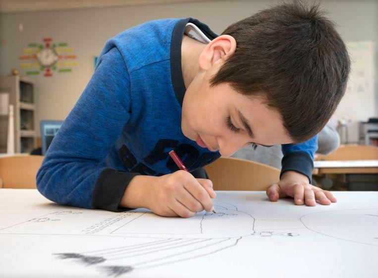 De tekeningen van kinderen zijn tegenwoordig van mindere kwaliteit dan twintig jaar geleden. Beeld Hollandse Hoogte