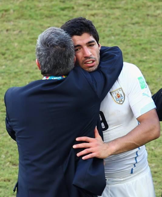 Tabarez en Suárez in 2014.
