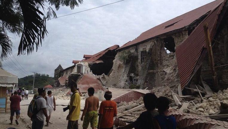 Aarbevingen hebben veel vernietigd in de Filipijnen Beeld ANP