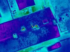 Met drone op zoek naar warmteverlies bij huurhuizen in Enschede