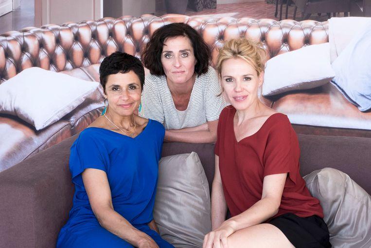 Mayra, Ann en Judith op een rij.