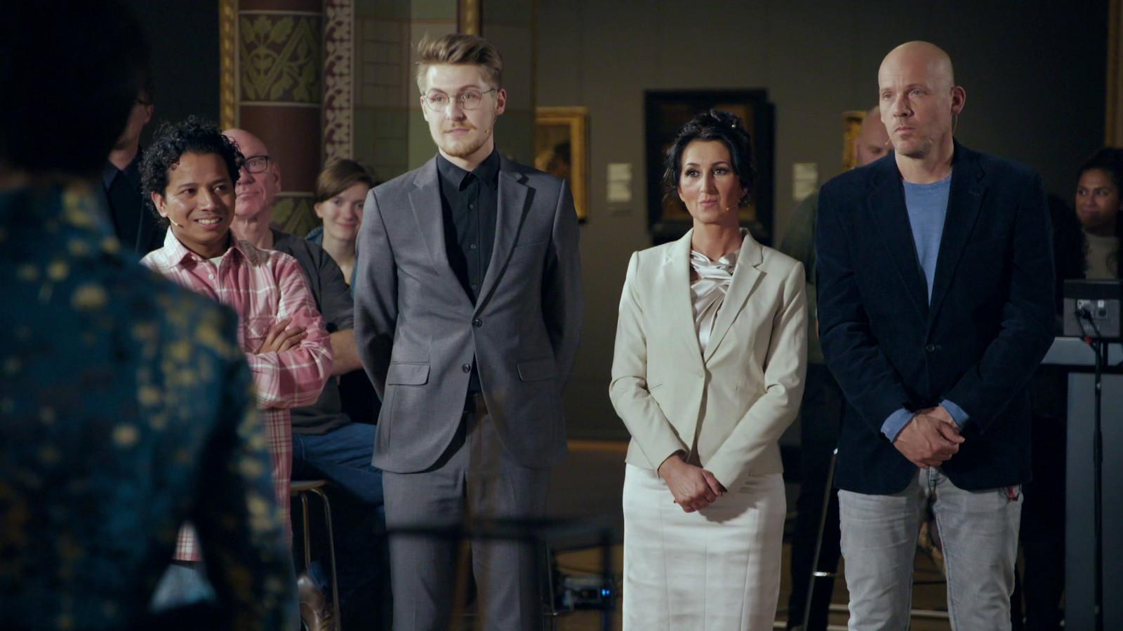 De vier finalisten van Project Rembrandt:  Ruben, Sebas,  Suzana en Nard