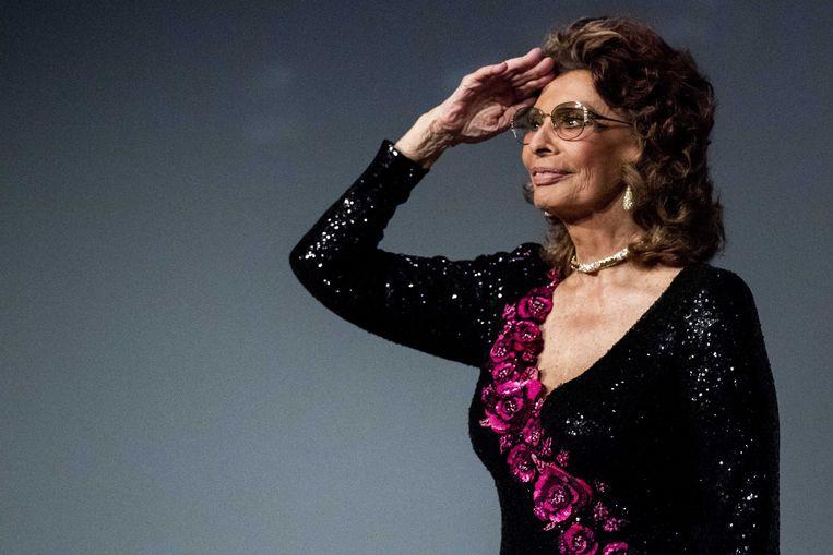 Actrice Sophia Loren in Vlissingen. Beeld ANP