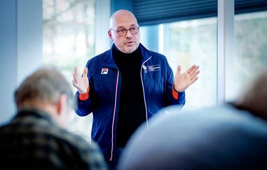 Maurits Hendriks, technisch directeur NOC*NSF, in januari vorig jaar tijdens een persbijeenkomst in Sportcentrum Papendal.