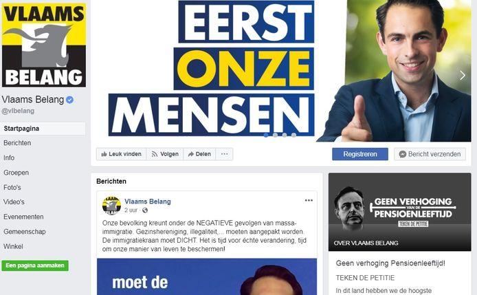 Vlaams Belang heeft op Facebook bijna 400.000 likes.