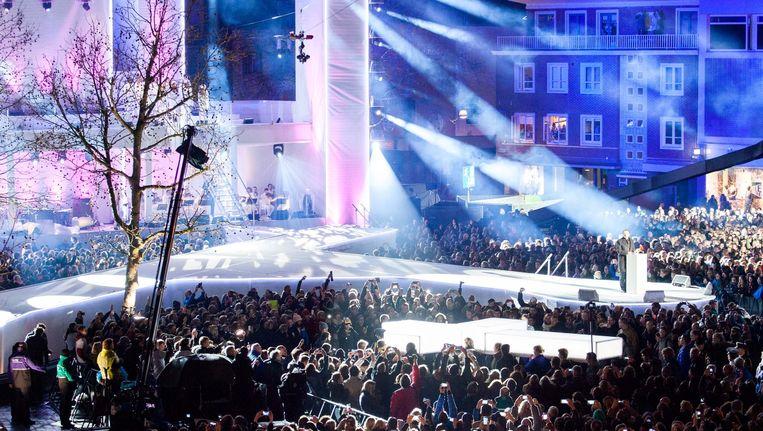 The Passion kwam dit keer vanuit Enschede en trok ongeveer 20.000 bezoekers. Beeld ANP