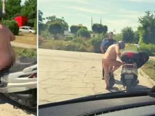 Naakte scooterrijder tegen politie: 'Het is echt veel te warm'
