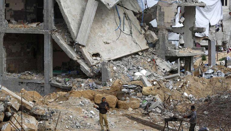 Straatbeeld van de gebombardeerde Gazastrook. Beeld anp