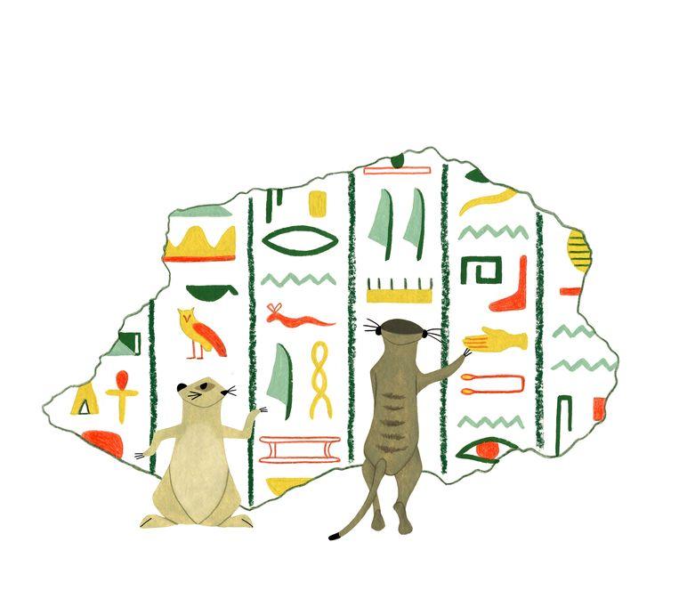 Illustratie uit Stuiver en Pluis in het oude Egypte. Beeld Sieb Posthuma