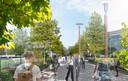 ... is het een wandel- en fietsverbinding door de Reitse Campus. Aldus de toekomstvisie.