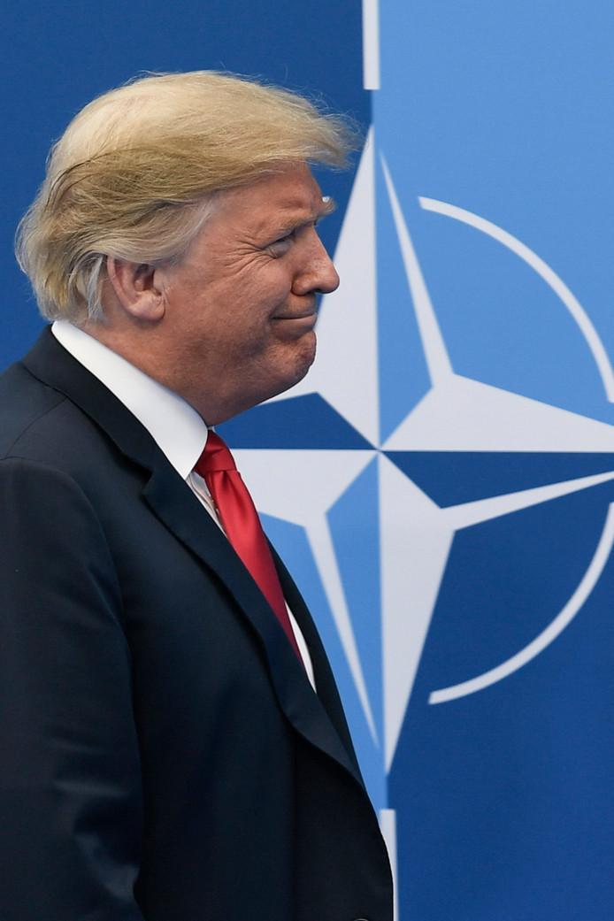 Trump wil dat alle lidstaten al volgend jaar 2 procent van het nationaal inkomen aan defensie besteden, zeggen ingewijden.
