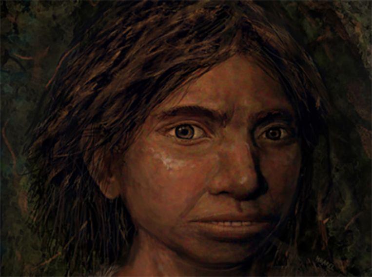 Reconstructie van een denisova-meisje.