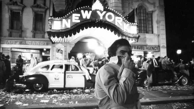 Martin Scorsese op de set van New York, New York, de musicalfilm uit 1977 met Liza Minelli en Robert De Niro. Beeld null