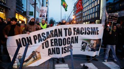 Opstootje in tegenbetoging tijdens toespraak Erdogan in Brussel