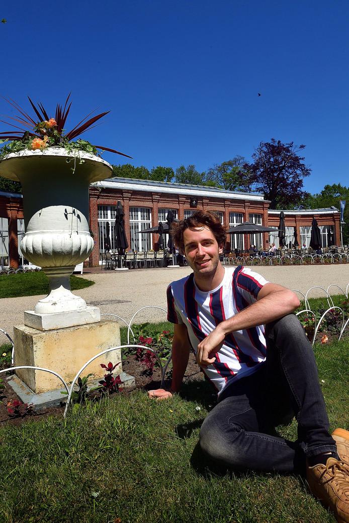 Merijn Oerlemans op landgoed Mattemburgh, waar hij af en toe evenementen verzorgt.