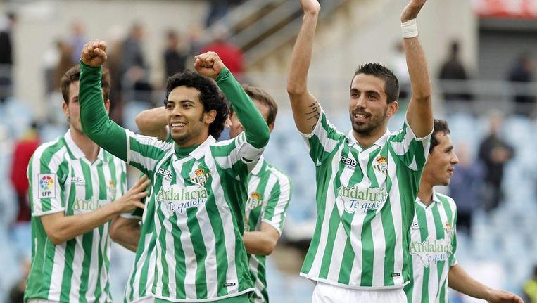 Miquel Roque (uiterst links, deels zichtbaar) Beeld epa
