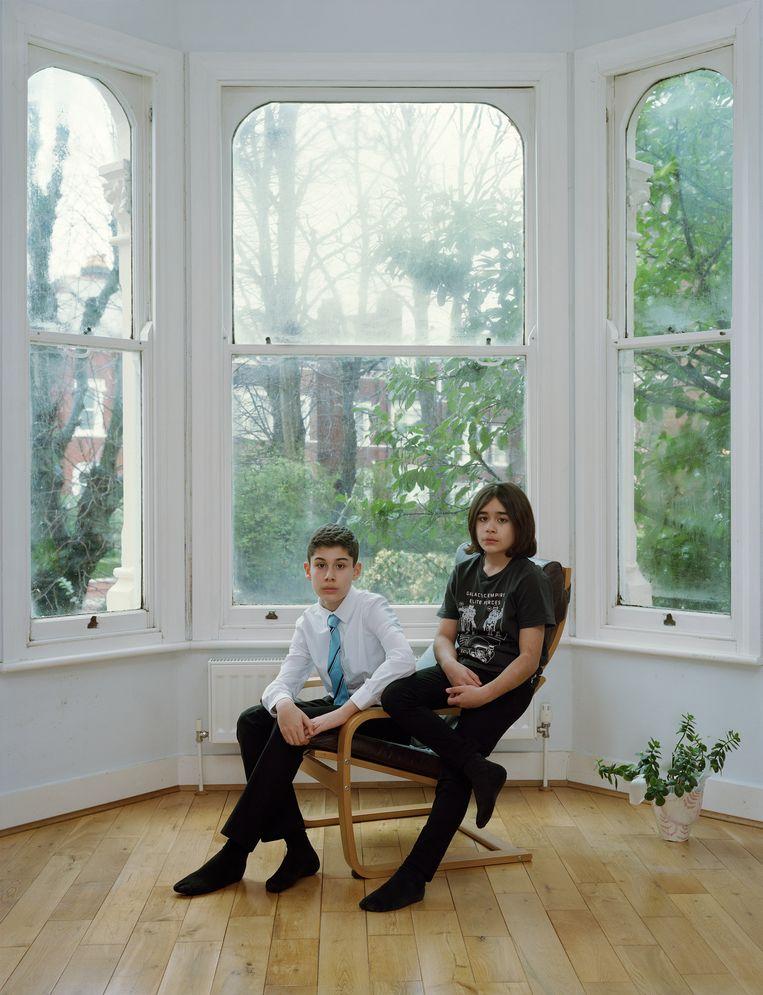 Arden en Miran, Londen, 16 februari 2020. Beeld Rineke Dijkstra