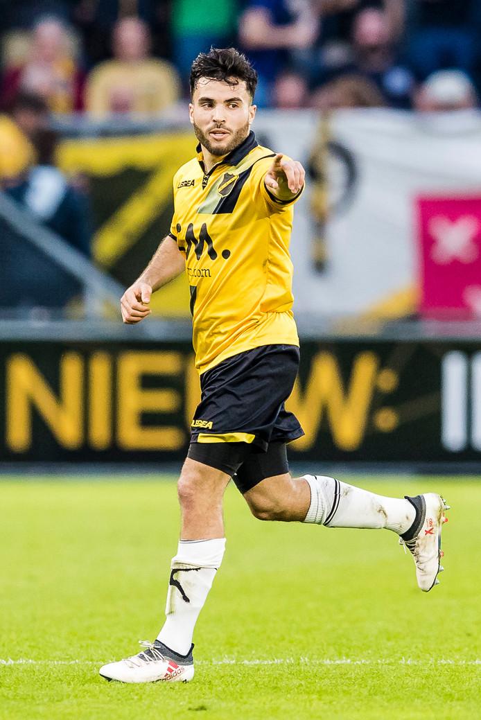 BREDA - NAC - Vitesse 1-0, Rat Verlegh Stadion, 07-04-2018. Voetbal, seizoen 2017-2018. NAC speler Mounir El Allouchi.