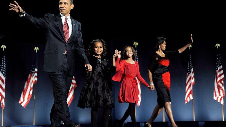 Bij Barack Obama's inauguratiespeech op 1 december 2008 waren beide dochters aanwezig.