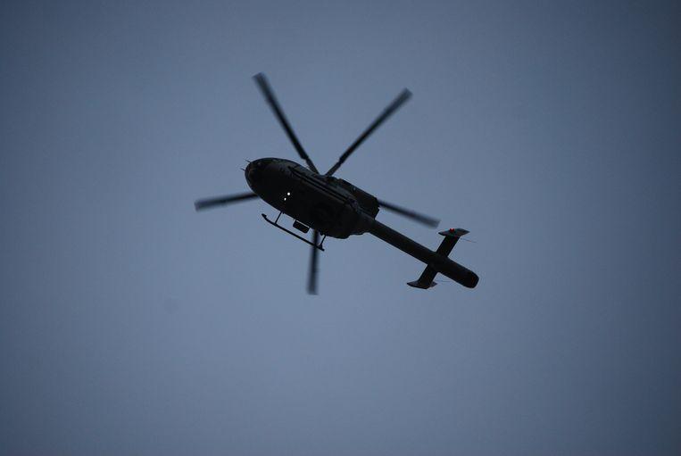 Een politiehelikopter hielp mee de verdachte op te pakken