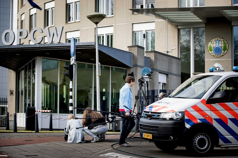 Exterieur van het OPCW in Den Haag. Beeld null