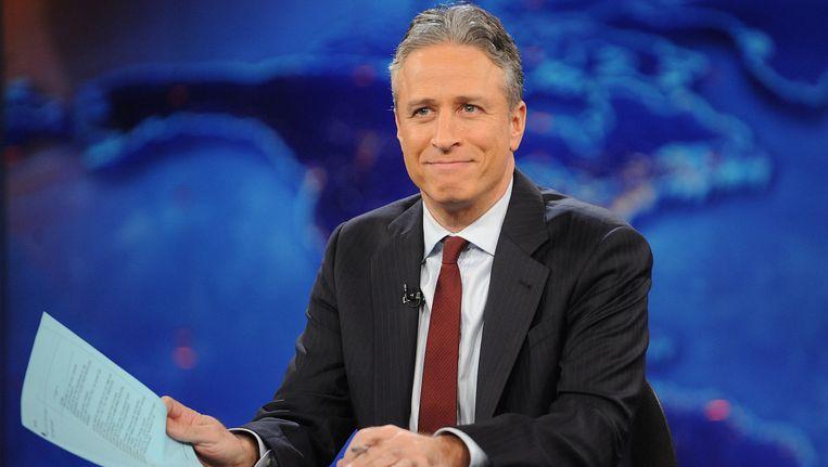 Jon Stewart op de set van The Daily Show.