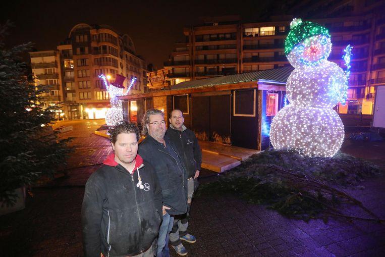 Anthony Varilone, Hugues Vanherck en Clint Varilone van de Ice Bar XL.